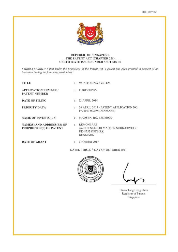 Patent Singapore