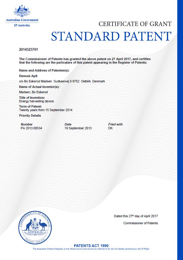 Patent Australia