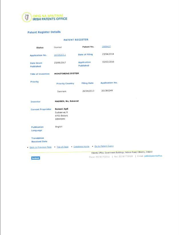 Patent Irland